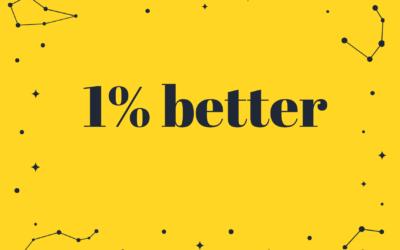 1% better